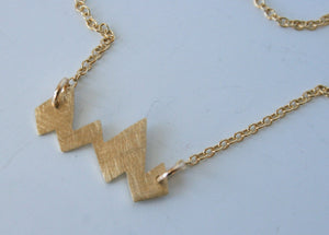 Mountain Necklace, Gold Mountain Necklace, Gold Jewelry, Brass Jewelry, Mountain Jewelry, Rocky Mountains, Modern Necklace, Gold Color