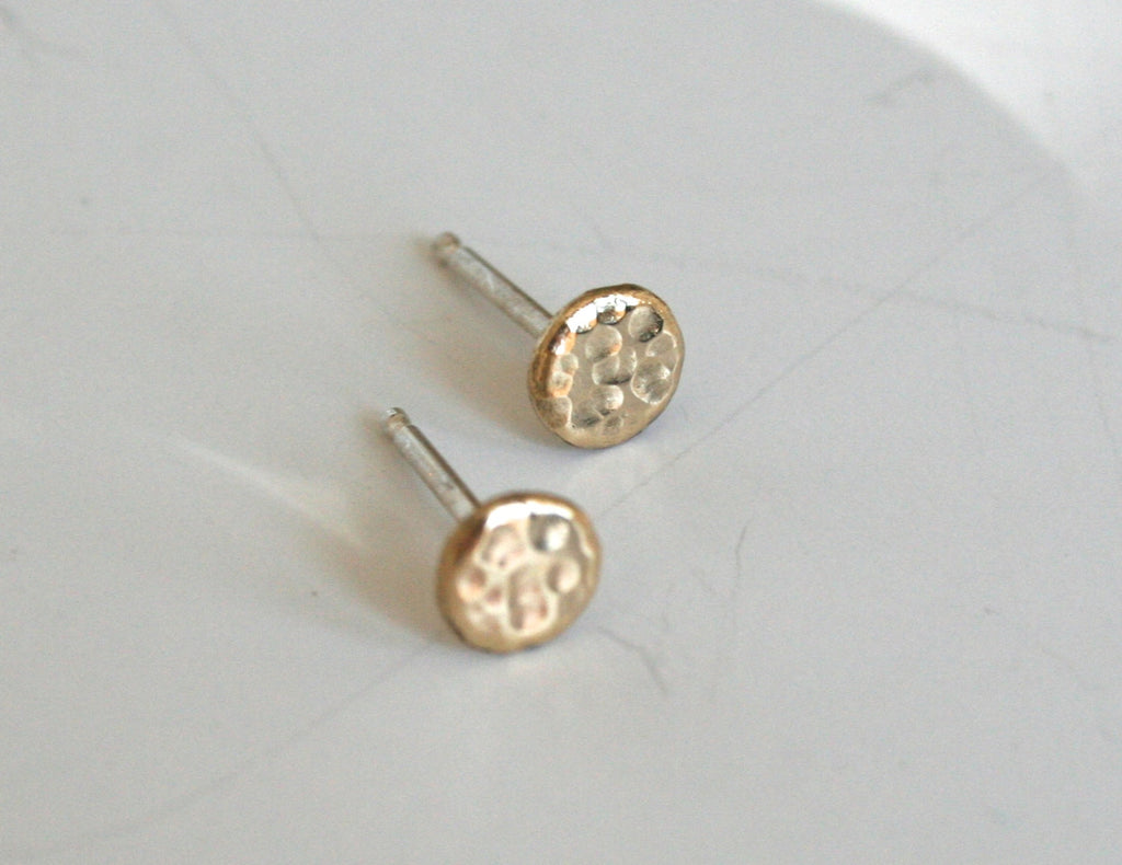 Gold Dot Earrings, Sparkle Earrings, Textured Metal Earrings, Stud Earrings, Everyday Earrings, Small earrings, Tiny earrings, Sparkle
