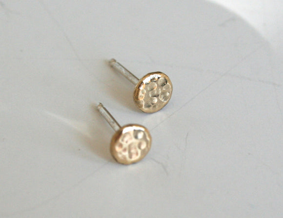 Gold Dot Earrings, Sparkle Earrings, Textured Metal Earrings, Stud Earrings, Brass Jewelry, Everyday Earrings, Small earrings, Tiny earrings