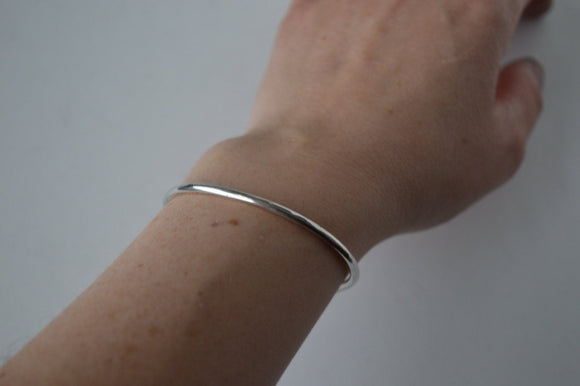 Hammered Sterling Silver Cuff Bracelet, Bangle, Minimal Jewelry, Polished Finish, Stacking, Stackable Cuff, Layering Jewelry, Minimalist