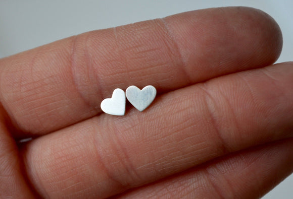 Tiny Stud Earrings, Silver Studs, Tiny Heart Earrings, Silver Heart Earrings, Silver Stud Earrings, Little Girls Earrings, Heart Jewelry