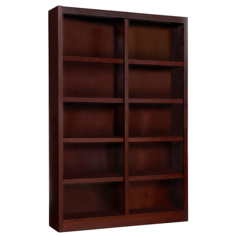 A. Joffe 10-Shelf Double Wide Bookcase, Cherry
