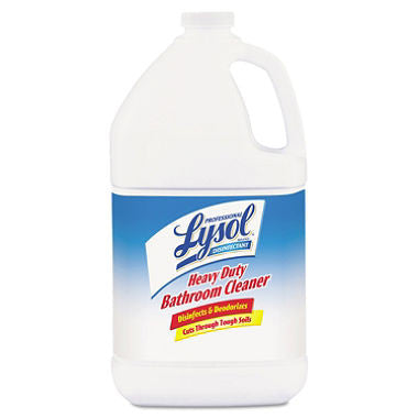Professional Lysol Brand - Heavy-Duty Bath Disinfectant, 1gal Bottles - 4/Carton