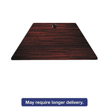 Alera Valencia Series 47 ¼? Training Trapezoid Table Top, Mahogany