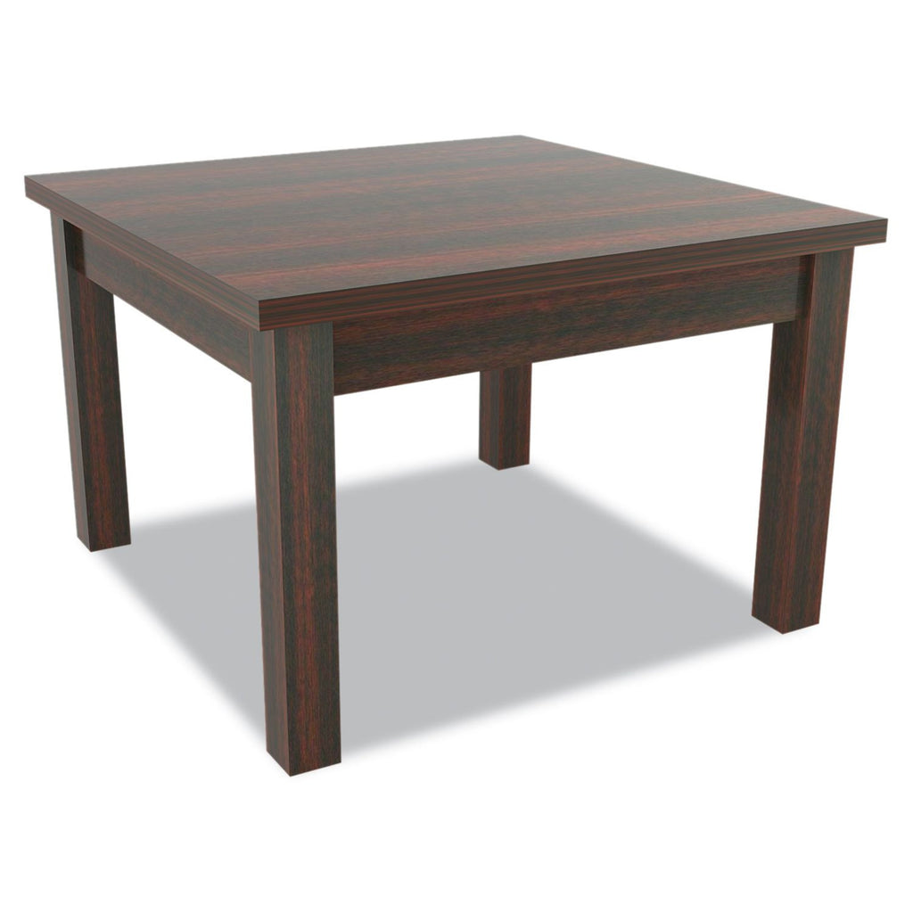 "Alera Valencia Series 23 5/8"" Occasional Square Table, Mahogany"