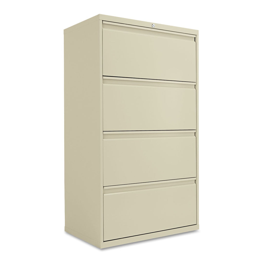 "Alera 30"" 4-Drawer Lateral File Cabinet, Putty"