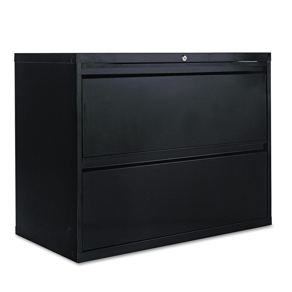 "Alera 36"" 2-Drawer Lateral File Cabinet, Black"