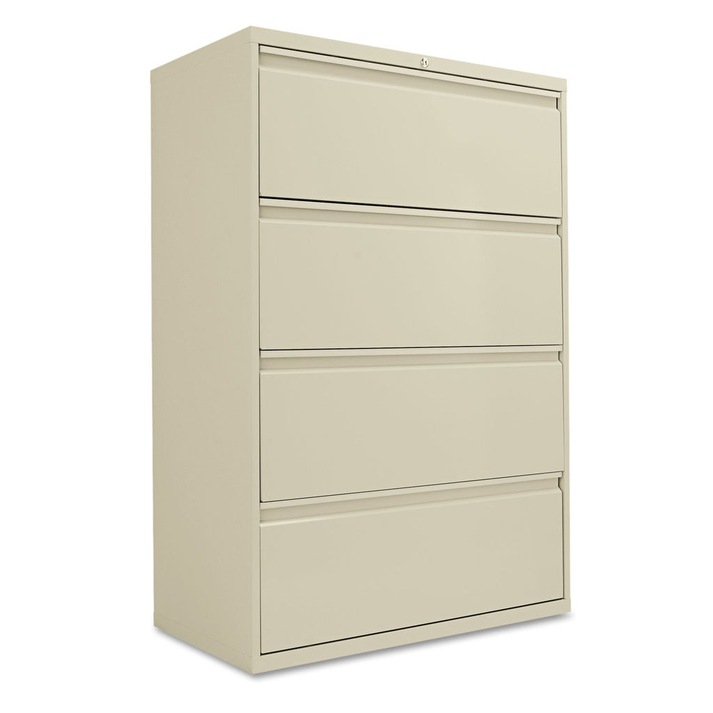 "Alera 36"" 4-Drawer Lateral File Cabinet, Putty"