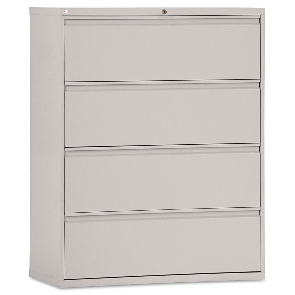 "Alera 42"" 4-Drawer Lateral File Cabinet, Light Gray"