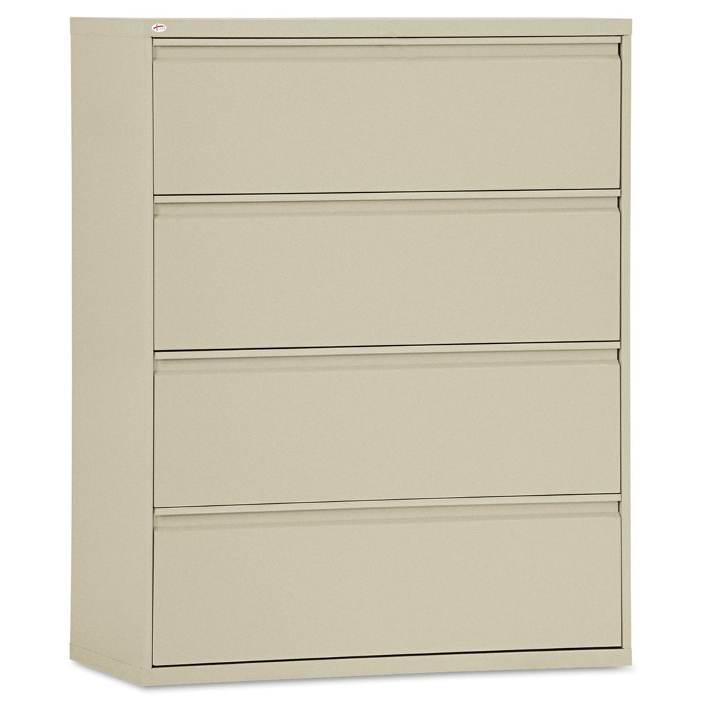 "Alera 42"" 4-Drawer Lateral File Cabinet, Putty"
