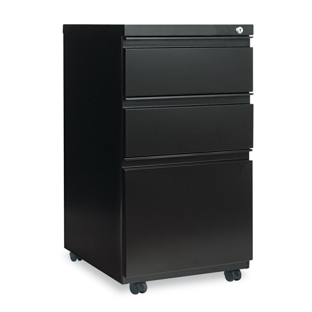 Alera 3-Drawer Metal Pedestal File,Black