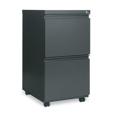 Alera 2-Drawer Metal Pedestal File, Charcoal