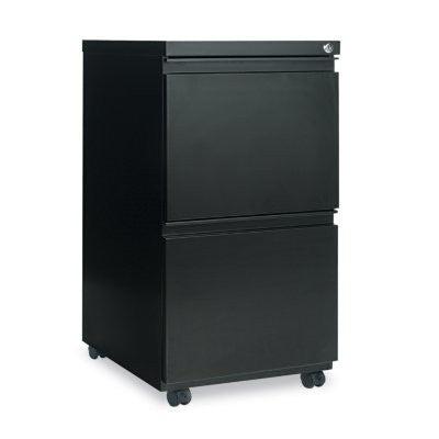 Alera 2-Drawer Metal Pedestal File, Black
