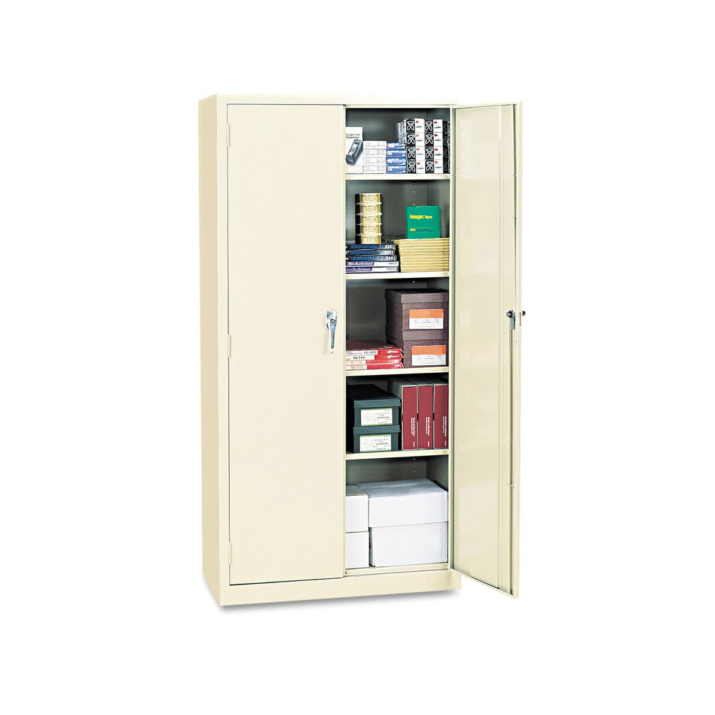 "Alera 72"" High Storage Cabinet with Adjustable Shelves, Putty"