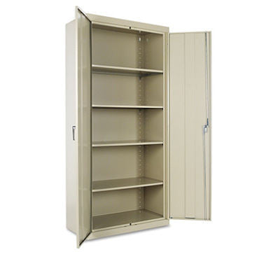 "Alera 78"" High Storage Cabinet with Adjustable Shelves, Putty"