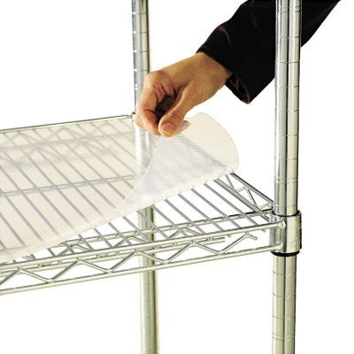 "Alera 48"" x 18"" Shelf Liners for Wire Shelving Units, Clear - 4 pack"