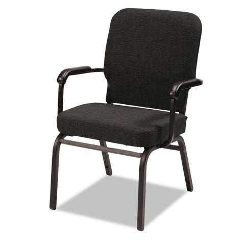 Alera Oversize Fabric Stack Chair, Black - 2 pack