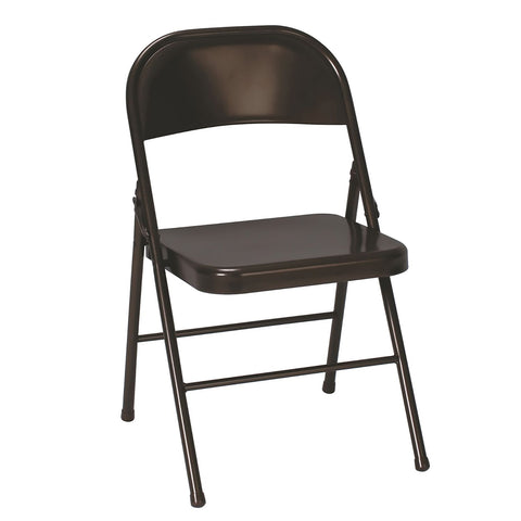 Cosco All Steel Folding Chair, Black - 4 pack