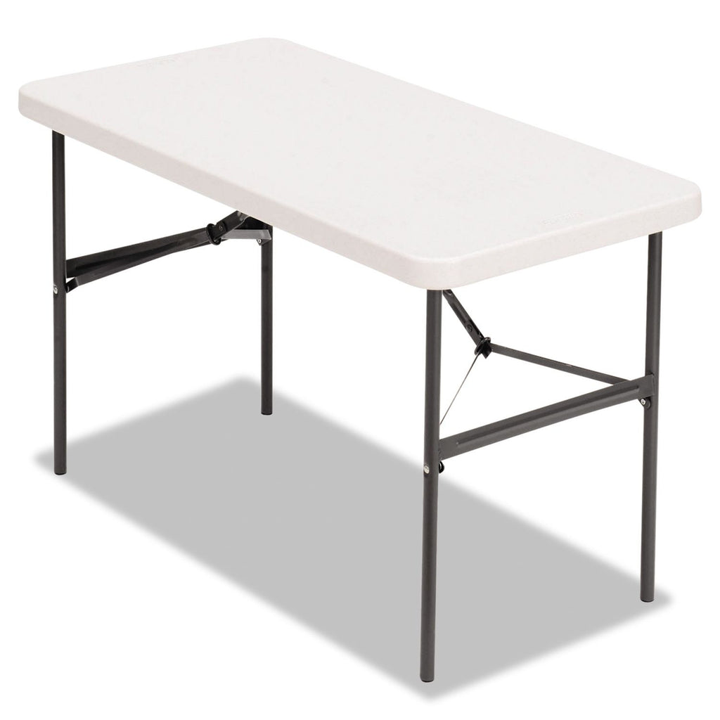 Alera Banquet Folding Table, Platinum/Charcoal 48 Inch