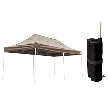 10 x 20 ft. Pop-Up Canopy with Anchor Bags - Desert Bronze