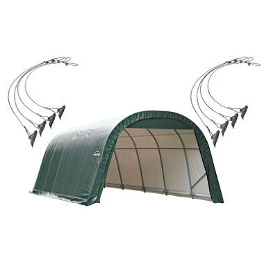12 x 20 ft. Round Storage Shelter with Anchors - Green