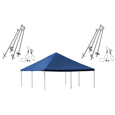 20 x 20 ft. Canopy with Anchor Kit - Blue