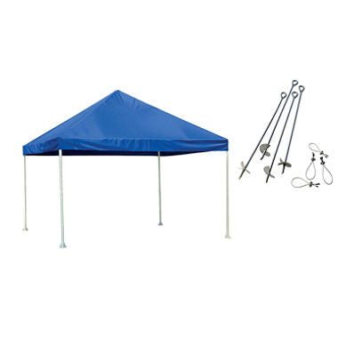 12 x 12 ft. Canopy with Anchor Kit - Blue