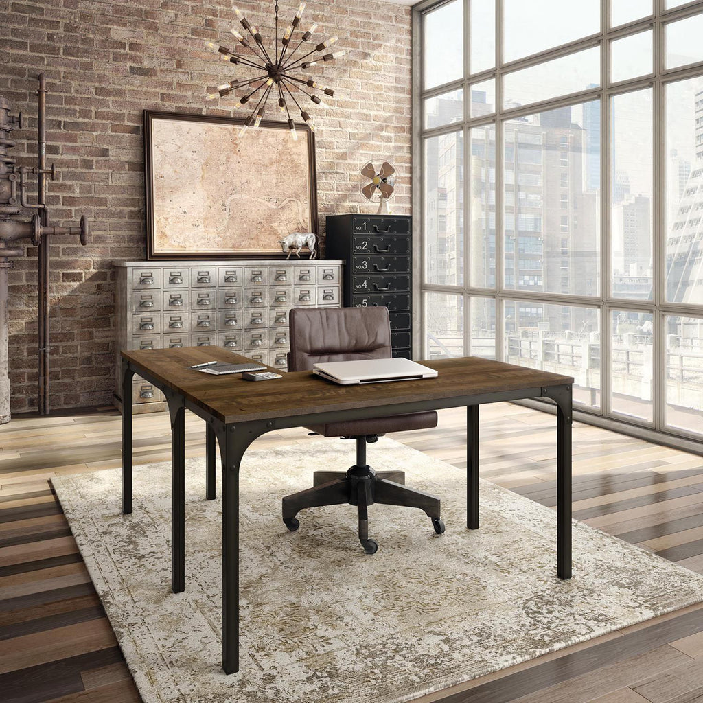 Amisco Carnegie Desk - Gun Metal