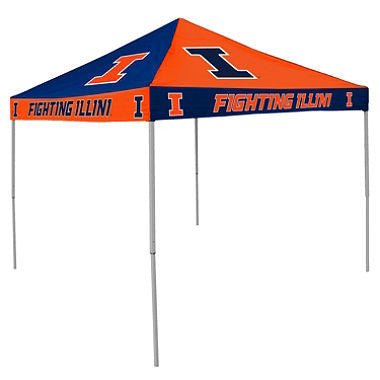 9x9 NCAA Illinois Checkerboard Canopy