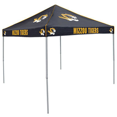 9x9 NCAA Missouri Black Canopy