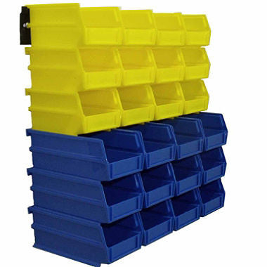 Wall Storage Kit (24 Bins, 2 Wall Mount Rails)