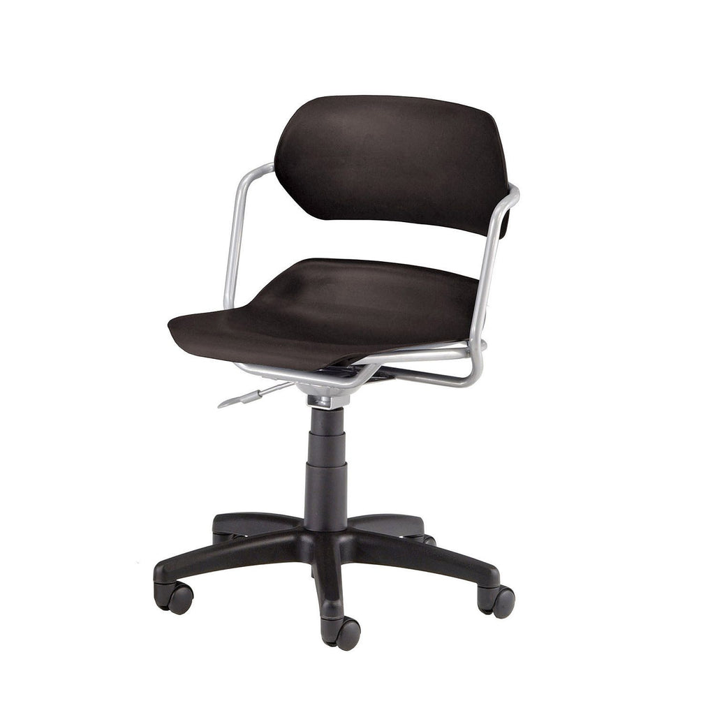 Armless Swivel Chair - Black