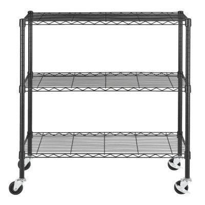 "Excel 36"" Multipurpose Wire Shelving - Black"