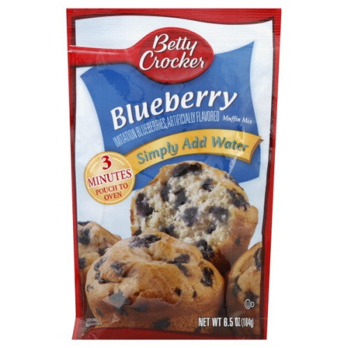 Betty Crocker Muffin Mix, Blueberry 6.5 oz.