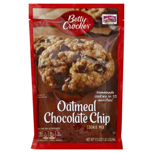 Betty Crocker Cookie Mix, Oatmeal Chocolate Chip 17.5 oz.