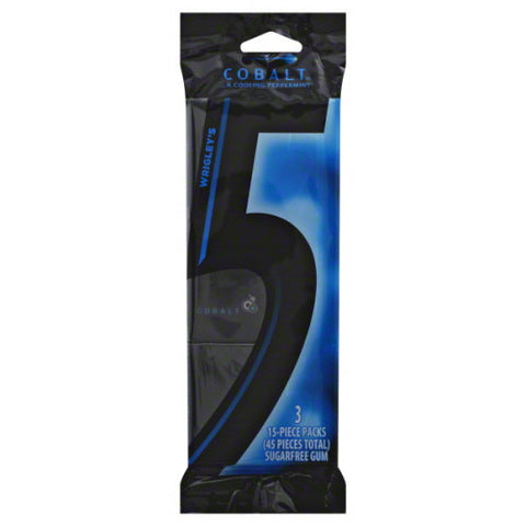 5 Gum, Sugarfree, Cobalt 45 ct.