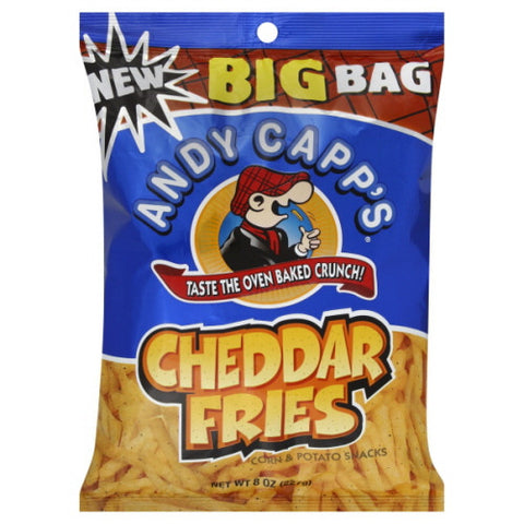 Andy Capp's Corn & Potato Snacks, Cheddar Fries, Big Bag 8 oz.