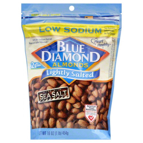 Blue Diamond Almonds, Lightly Salted, Low Sodium 16 oz.