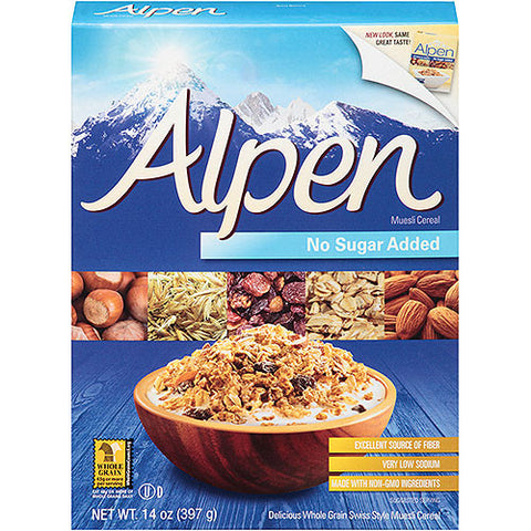 Alpen Muesli Cereal, No Sugar Added 14 oz.