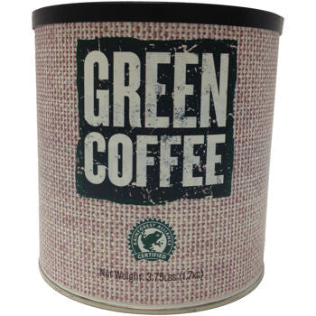 Rainforest Alliance Green Unroasted Arabica Coffee 3.75 lb. 6-pack can