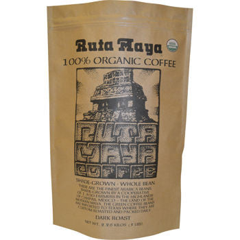 Ruta Maya Organic Dark Roast Coffee 5 lb. Bag