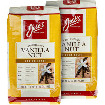 Jose���s Vanilla Nut Whole Bean Coffee 3 lb. Bag 2-pack