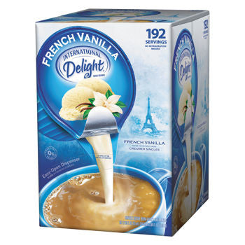 International Delight French Vanilla Liquid Creamer Portion Cups 192ct