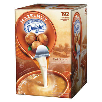 International Delight Hazelnut Liquid Coffee Creamer Portion Cup 192ct
