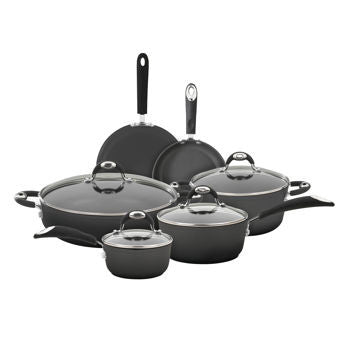 Bialetti 10-pc Aluminum Cookware Set with Silicone Handles