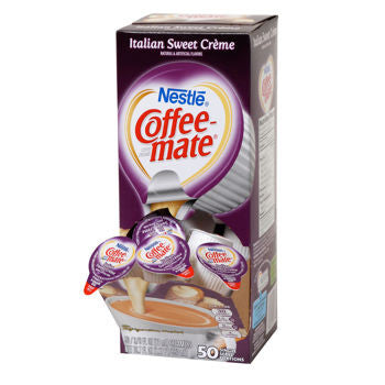 Nestle Coffee-mate Italian Sweet Creme Liquid Creamer Singles 50ct - 3 Pack