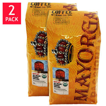 Mayorga Organic Honduras Santa Rosa Whole Bean Coffee 2 lb. Bag 2-pack