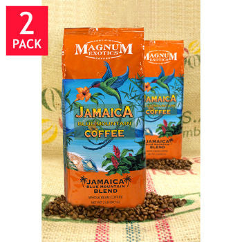 Magnum Jamaica Blue Mountain Blend Whole Bean Coffee 2 lb. Bag 2-pack