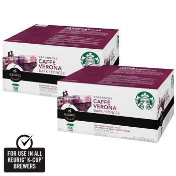 Starbucks Caffe Verona Blend Coffee 108 K-Cup Pods