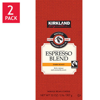 Kirkland Signature��� Roasted by Starbucks Espresso Roasted Whole Bean Coffee 2/32 oz